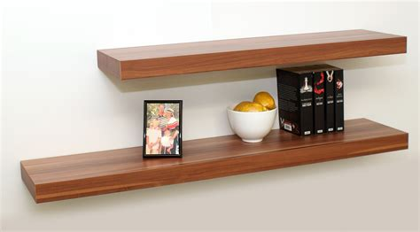 floating shelves walnut floating shelf kit 1150x250x50mm mastershelf