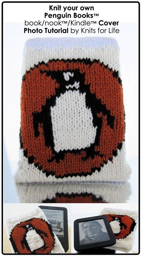knitted penguin books booknookkindle cover