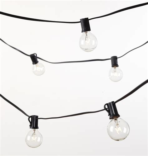 light bulbs on a string 40 g12 clear bulb string lights rejuvenation