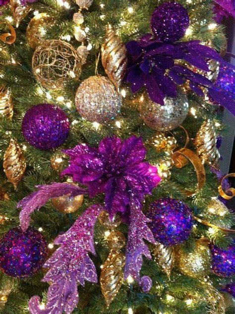38 best images about purple and gold christmas decorations