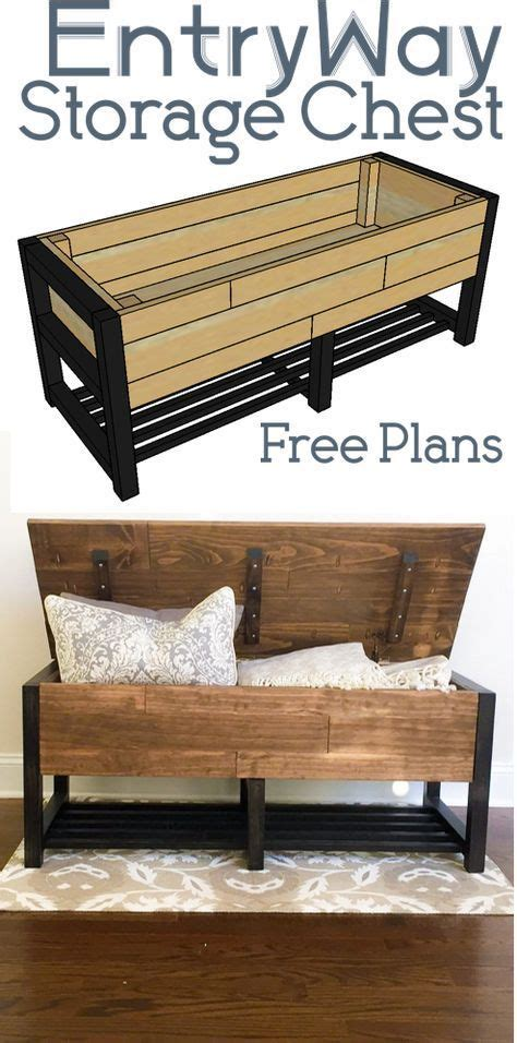 entryway storage chest home ideas   woodworking