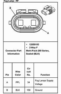 Need Wiring Diagram For 2003 Gmc 2500hd     Fog Light  Rear