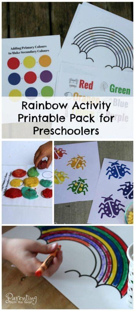 preschool worksheets rainbow play based learning activities 917   Rainbow.activity.pack .preschoolers 444x1024