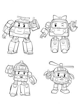 robocar poli coloring page korean kids stuff