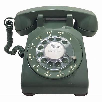 Rotary Telephone Phone Transparent Electric Western Gray