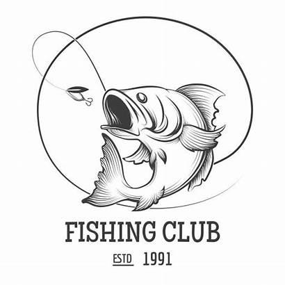 Fishing Fish Fly Club Vector Logos Bass