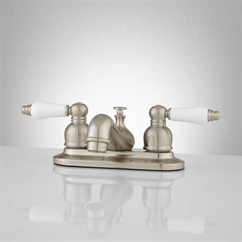 porcelain handle bathroom faucet teapot centerset bathroom faucet porcelain handles
