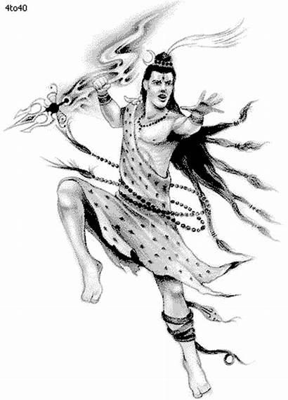 Shiva Sketch Clipart Coloring Shivaratri Maha Dance