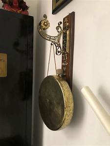 20th, Century, Hanging, Oak, And, Brass, Dinner, Gong, For, Sale, At, 1stdibs