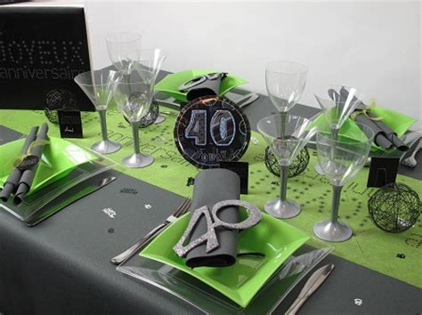 deco de table anniversaire 40 ans table de lit