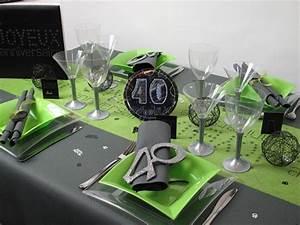 Idee Deco Table Anniversaire 70 Ans : id e d coration 40 ans ~ Dode.kayakingforconservation.com Idées de Décoration