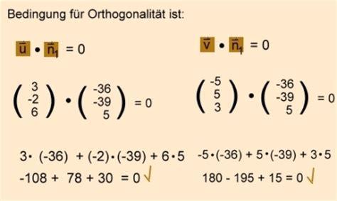 analytische geometrie und lineare algebra normalenvektor