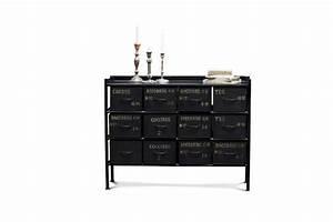 Commode 12 Tiroirs : commode d 39 atelier 12 tiroirs meuble factory pib ~ Teatrodelosmanantiales.com Idées de Décoration