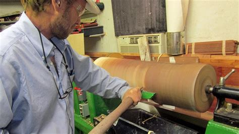 lathe project wood turning  log   simple work