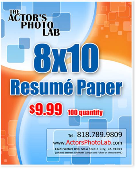 Staple Resume To Back Of Headshot by 8x10 Actor Resume Paper Actor Resume Printing On Back Of Headshots