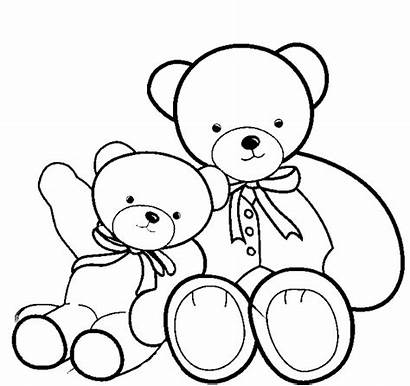 Coloring Bear Teddy Pages Bears Colouring Printable