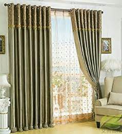 amazon com solid embossed satin curtain living room