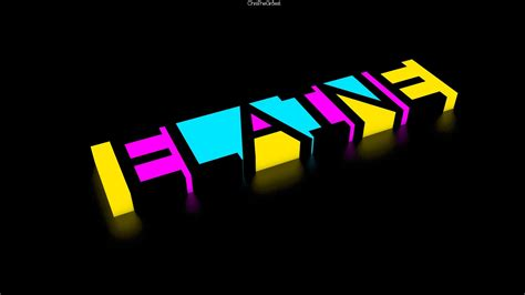 light  view blue black yellow pink text glow  renders