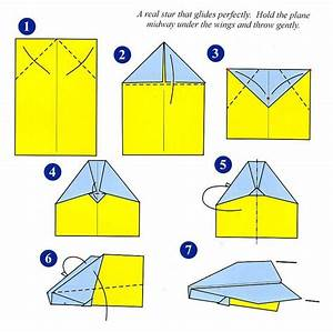 Paper Airplane Directions For Children