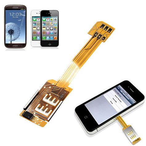 dual  sim cards double adapter  iphone   samsung