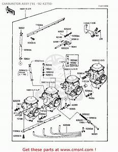 Kawasaki 1980 Kz750-e1 Carburetor Assy   U0026 39 81