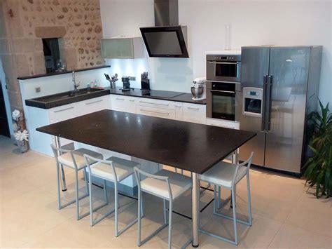 table travail cuisine table de cuisine avec plan de travail dootdadoo com
