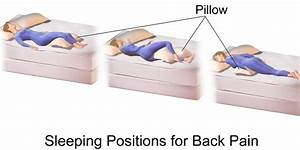 The best sleeping positions for lower back pain and upper for Best sleeping posture for back pain