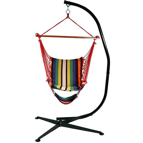 Hammock Chair With Footrest by Sunnydaze Decor 3 5 Ft Fabric Hanging Soft Cushioned