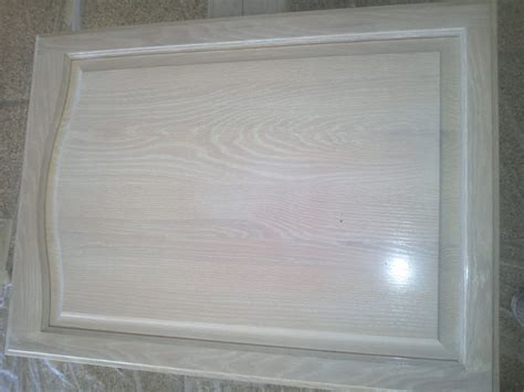 Painting And Refinishing White Color Door Oak Kitchen