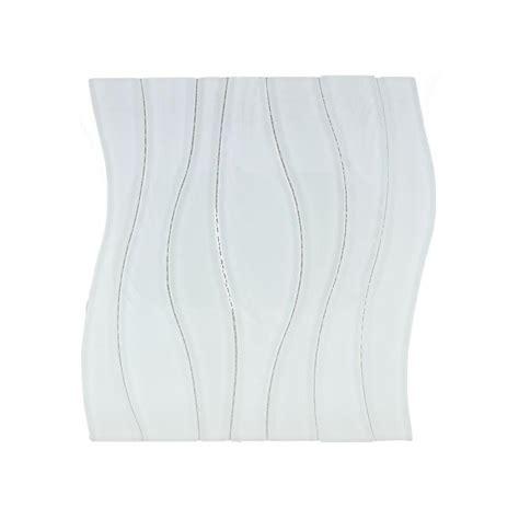 Buy Glass Tile Waterfall White Rose WS 252   HomeDecorAZ.com