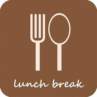 Lunch Break Clipart Clip Sign Vector Icon