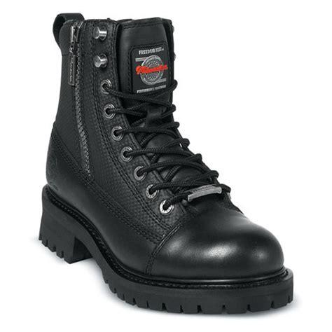 biker boots men men 39 s milwaukee accelerator zip boots black 132399