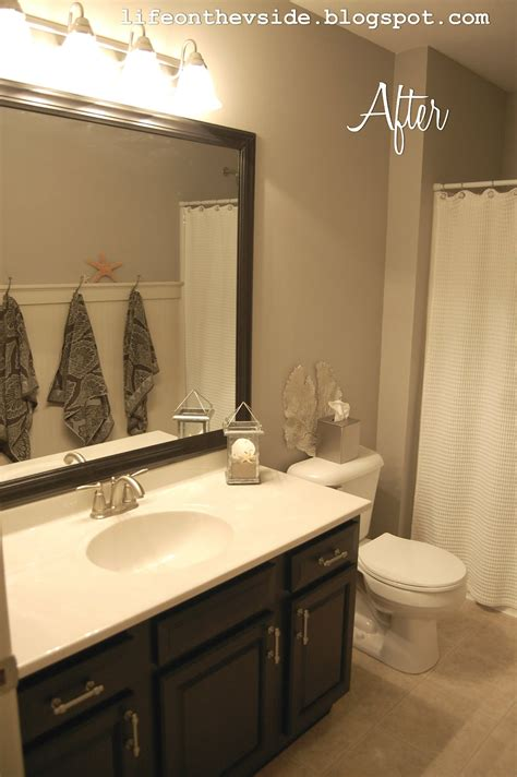 Bathroom Mirror Makeover by On The V Side Cure For What Ails Ya Bathroom Makeover