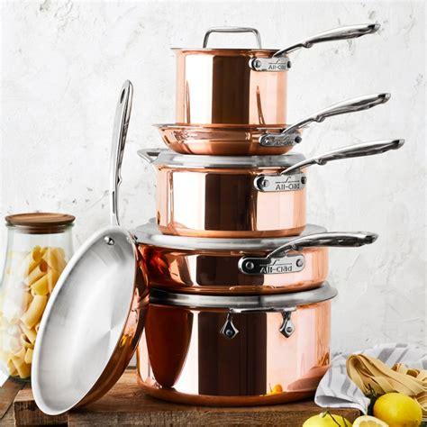 clad  copper  piece cookware set williams sonoma