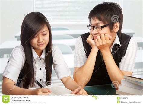 Student Falling In Love Stock Image Image Of Table, Interest 20483875