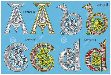 celtic alphabet letters  sample  format