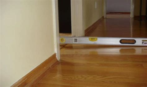 wood floor  subfloor leveling compound technique