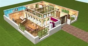 plan 3d pour maison With creer maison 3d gratuit 1 une plan construction maison lhabis