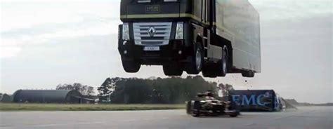 Semi-truck Jump Over A Formula 1 Car