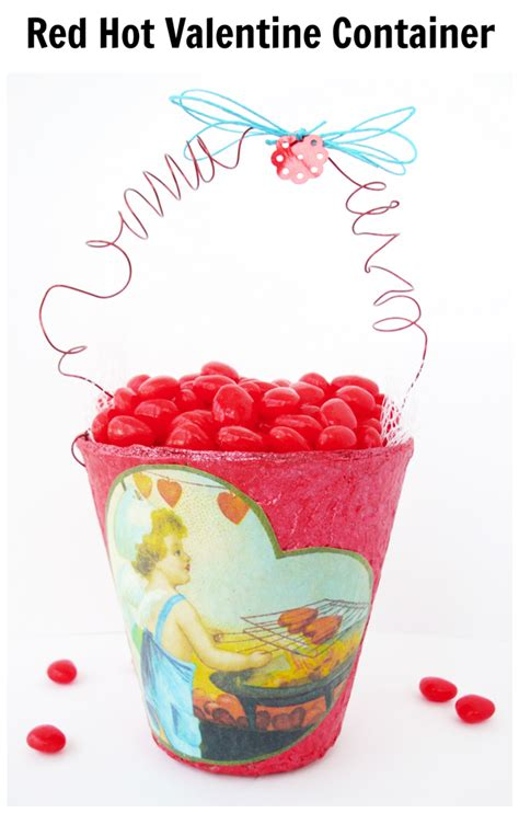 red hot valentine container pet scribbles