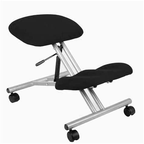 kneeling chair black silver staples 174