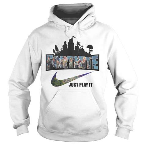 Hoodie Zipper Sweater Logo Nike official nike logo fortnite just play it shirt hoodie