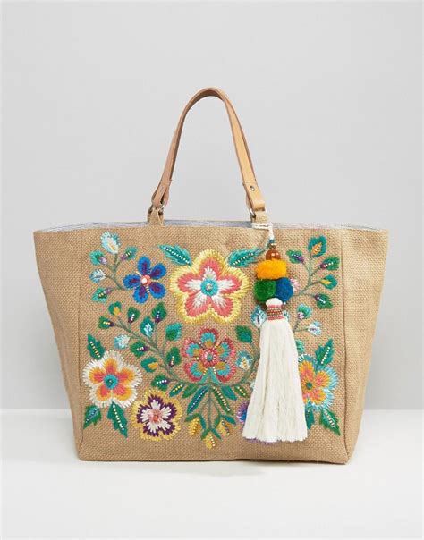 Embroidered Tote Bag lyst mela multi embroidered tote bag