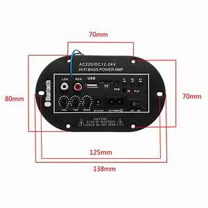 New Car Bluetooth Subwoofer Hifi Bass Amplifier Board For