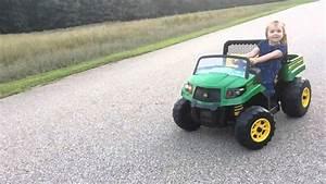18 Volt Peg Perego John Deere Gator Xuv Drifting
