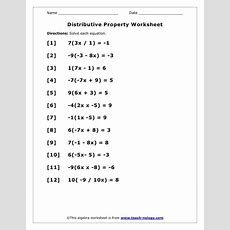 Distributive Property Worksheets  Google Search  Homework  Distributive Property, 8th Grade