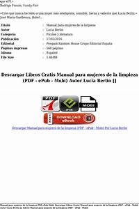 Read  U0026 Download Manual Para Mujeres De La Limpieza