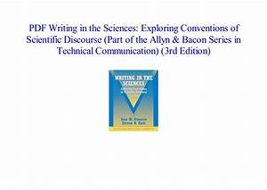Pdf  Writing In The Sciences  Exploring Conventions Of