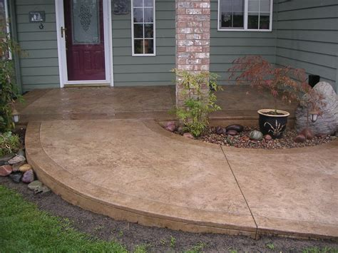 stained cement porch concrete walkway ideas cement walkways cement walkway ideas