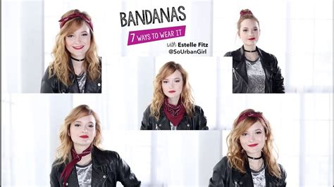 how to style hair with a bandana how to style a bandana 7 ways with estelle fitz 7071